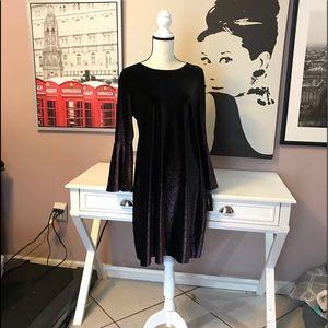 Gilded Velour Plum Dress